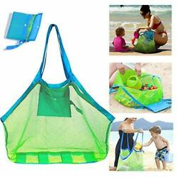 Mesh Beach Bag Extra Large Beach Bags and Totes Tote Backpack Toys Towels $15.88
