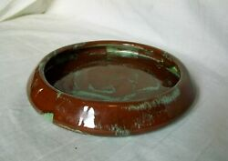 Vintage Quebec Canada Art Pottery Red Clay Dish Or Bowl - Signed