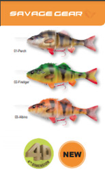 New 2021 Savage Gear 4d Line Thru Perch Pre-rigged With Carbon49