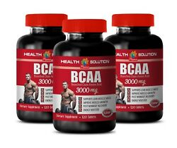 Muscle Workout Amino Acids - Bcaa 3000mg 3 Bottles - Pre Workout Supplement