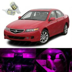 12 X Pink Led Interior Lights Package Kit Deal Best For Tsx 2004 - 2008