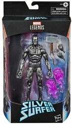 Marvel Legends 6 Inch Figure Exclusive - Obsidian Silver Surfer With Mjolnir