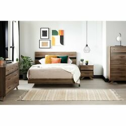 Complete Queen Size 5 Piece Bedroom Set, Bed, Nightstand And Dressers Shiplap A641