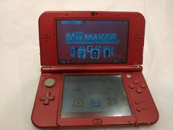 Nintendo 3ds Xl System Red Tested And Played