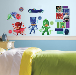 RoomMates PJ Masks Peel and Stick Wall Decals 9 inches X 17.375 inches RMK358
