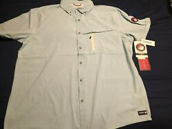 New Canada Weather Gear Fishing Shirt Button Up Short Sleeve Top Dry Mens Size L
