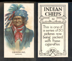 1930 Geronimo Tobacco Card 32 Of 50 Mint High Grade And039and039 3393