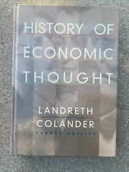 History Of Economic Thought By David C. Colander And Harry Landreth 4th Edition.