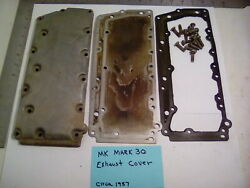 Vintage Mercury Mark 30 Turbo 4 Outboard Engine Exhaust Side Cover / Gaskets