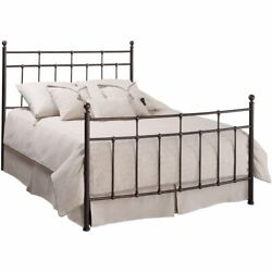 Hillsdale Providence Traditional King Metal Spindle Bed In Antique Bronze