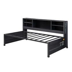 Acme Cargo Storage Daybed And Trundle In Gunmetal Finish