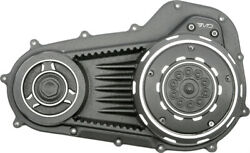 Emd Black Cut Snatch Big Twin Primary Cover Pctc/jd/bc