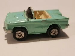 Micro Machines Classic Car Ford Thunderbird Convertible Turquoise Teal