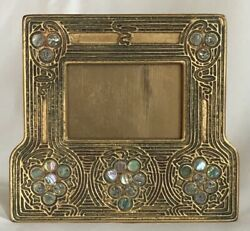Early 20th C. Studios Bronze Doreand039 Abalone Picture Calendar Frame