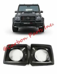 W464 W463a Carbon Headlights Covers Brabus Style Mercedes-benz G-class 2019up