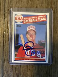 Mark Mcgwire 1985 Topps Signed Auto Rc Rookie Card 401 W/ Inscription 583 Hr