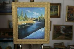 And039spring Morning On The Passumpsicand039 Realism Original Acrylic Painting Lgolden