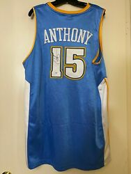 Carmelo Anthony Signed Autograph Authentic Adidas Nuggets Basketball Jersey Psa