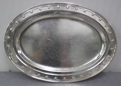 Antique C. 1920s And Co. Sterling Silver 12 X 16 Inch Platter/tray 1243g