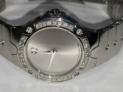 Mens Movado Sports Edition Stainless Steel Diamond Watch