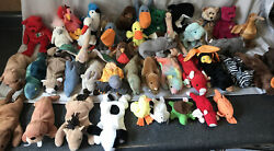 Ty Beanie Babys Assorted Lot Of 40 And Another 5 Mini's. No Tags