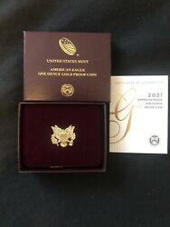 ✅🦅 21eb ✅🦅2021 Ounce Gold Eaglr Proof Coins 2021