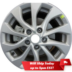 Used 16 Silver Alloy Wheel Rim For 2016-2019 Nissan Sentra - 62756