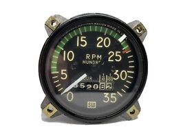 Piper Cherokee Tachometer Pa28 Pa32 Rpm Gauge. Used Great Working Piper Tach Nr
