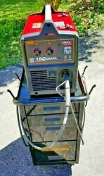 Lincoln Power Mig 180 Dual Mig Welder W/welding Cart And Accessories
