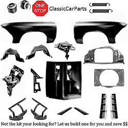 1966 Chevelle Ss Hood Inserts Fenders W/inners Hood Hinges Latch Catch Louvers+