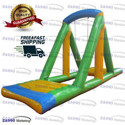 20x6.6ft Inflatable Floating Water Swing For Sea And Pool With Air Pump