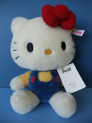 2013 Steiff Hello Kitty Mohair Toy 40th Anniversary 682216 Made In Germany
