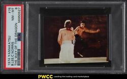 1974 Yamakatsu The Way Of The Dragon Bruce Lee And Chuck Norris 76 Psa 8 Nm-mt