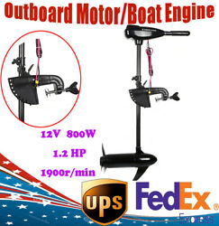 12v 80lbs Electric Trolling Motor Inflatable Fishing Boat Outboard Engine Motor