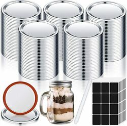 171 Pieces Regular Mouth Mason Jar Lids , Leak Proof With Silicone Seals Rings