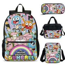 The Amazing World Of Gumball Kids Backpacks Insulated Crossbody Bag Pen Case Lot $34.99