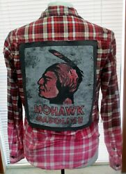 Oneofakind Designer Deconstructed Flannel Shirt By Coco - Mohawk Gasoline