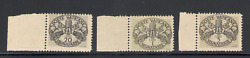 1946 Vatican, Postage Stamps' Wide Stripe Wallpaper Grey' 3 Val, New And Perf