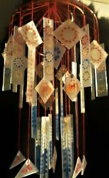 Frosted Japanese Glass Wind Chime Sounds Of Ice Tinging Glass Vintage Style