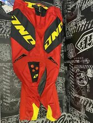 One Industries Defcon Motocross Pants Size 28 Red