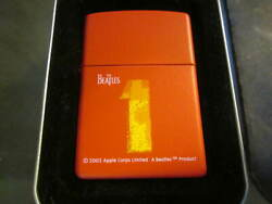 Vintage Rare New 2002 The Beatles 1 One Zippo Lighter New In Tin W/ Sleeve