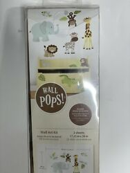 WALL POPS Jungle Wall Art Kit NEW Removable Decals