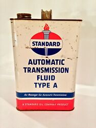 Vintage 1951-56 Standard Oil Can Sign Rare Early Automatic Transmission Fluid