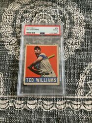 1948 Leaf Ted Williams 76 Psa 2 Boston Red Sox Very Sharp Color Hof Hot Card
