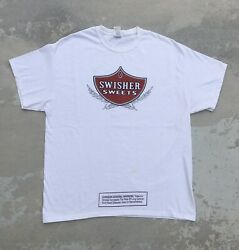 Swisher Sweets Cigar T-shirt Men's Size Xl White Tee Blunts Cigarillo
