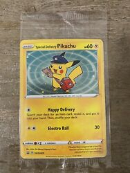 ✨special Delivery Pikachu Holo Sealed - Sold Out Pokemon Center 📈 A Swsh074