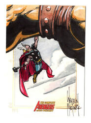 Thor 2006 The Complete Avengers Sketch Card Warren Martineck 1/1
