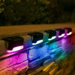 4/12x Solar Garden Lights Outdoor Led Deck Light Path Pathway Stairs Fence Lamp