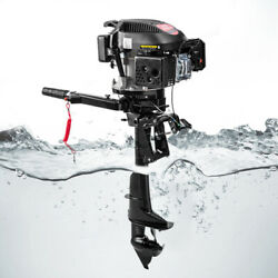 4-stroke 6hp Heavy Duty Outboard Motor Boat Engine W/air Cooling System Usa