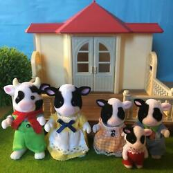 Sylvanian Families Cow Family Epoch Calico Critters Opened Unused Rare
